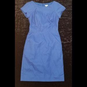 Headturner blue J. Crew dress, beautiful & bright